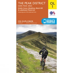 Explorer Map OL1 The Peak District - Dark Peak Area