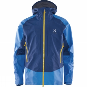 Haglofs Haglofs Mens Roc Hard Jacket Vibrant Blue / Hurricane Blue
