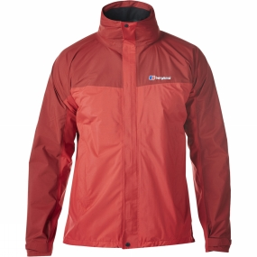Berghaus Berghaus Mens Light Hike Hydroshell Jacket Extrem Red/Dahlia