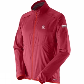 Salomon Salomon Mens Agile Jacket Victory Red
