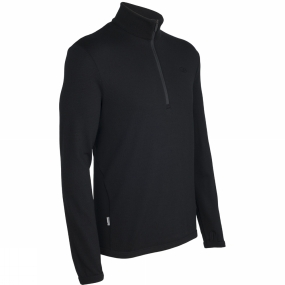 Icebreaker Icebreaker Mens Original Long Sleeve Half Zip Black