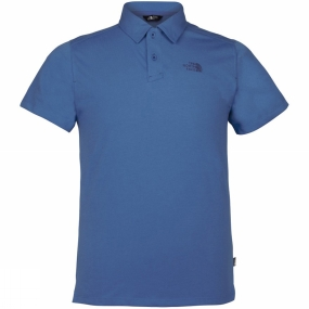 The North Face Mens Hike Polo Heron Blue