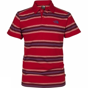 The North Face Mens Hike Polo TNF Red Plaid