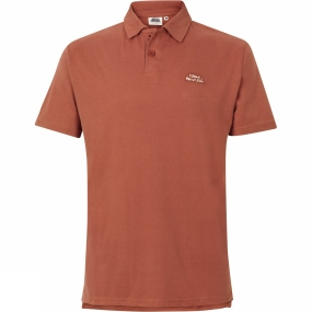 Weird Fish Weird Fish Mens Andy Polo Brick Red