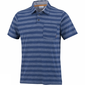 Columbia Men's Lookout Point Polo Carbon Stripe