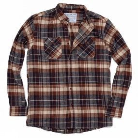 United By Blue United By Blue Mens Juniper Plaid Shirt Brown