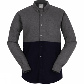 United By Blue United By Blue Mens Banff Colorblock Wool Shirt Grey/Navy
