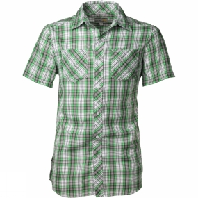 Craghoppers Mens Nico Short Sleeve Shirt Bright Green