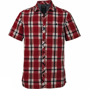 Craghoppers Craghoppers Mens Hasan Short Sleeve Shirt Red Combo