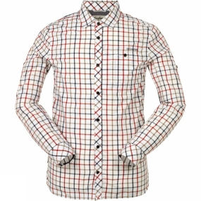 Craghoppers Mens Essien Long Sleeve Shirt Red Combo
