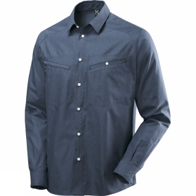 Haglofs Haglofs Mens Saba III Long Sleeve Denim Shirt Deep Blue Denim