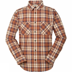 Ayacucho Mens Flannel Shirt Rust Check
