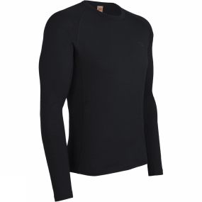 Icebreaker Icebreaker Mens Oasis Long Sleeve Crewe Black
