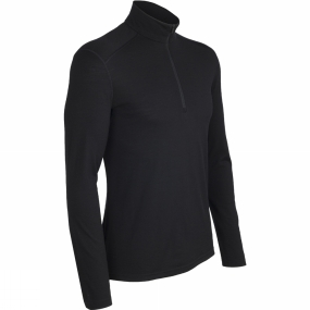 Icebreaker Icebreaker Mens Oasis Long Sleeve Half Zip Top Black