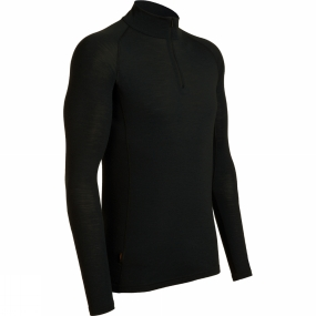 Icebreaker Icebreaker Mens Everyday Long Sleeve Zip Black