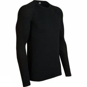 Icebreaker Icebreaker Mens Everyday Long Sleeve Crewe Black
