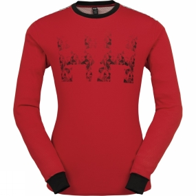 Helly Hansen Mens HH Active Flow Long Sleeve Crew Flag Red