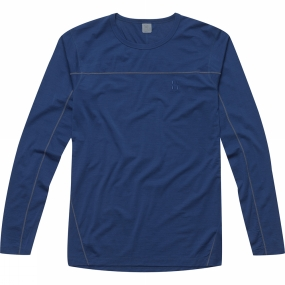 Haglofs Haglofs Mens Actives Merino II Round Neck Hurricane Blue