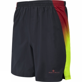 Ronhill Ronhill Mens Vizion 7in Shorts Black/RacingRed/FluYell