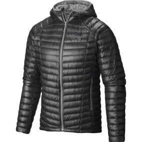 Mountain Hardwear Mountain Hardwear Men's Ghost Whisperer Hooded Down Jacket Shark / Titanium