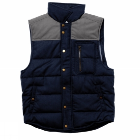 United By Blue United By Blue Mens Drummond Colorblock Wool Vest Grey/Navy