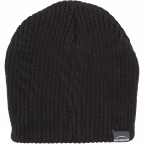 Blue Mountain Ribbed Beanie Black