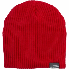 Blue Mountain Ribbed Beanie Red