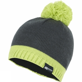 Mountain Equipment Chunky Pom Hat Raven/Green Shoots