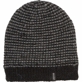 Ayacucho Mens Lima Beanie Light Grey/Black