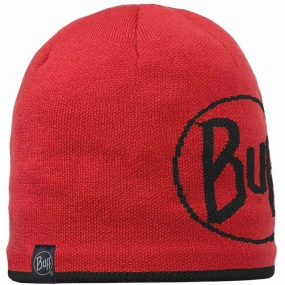Buff Knitted & Polar Hat Logo / Red