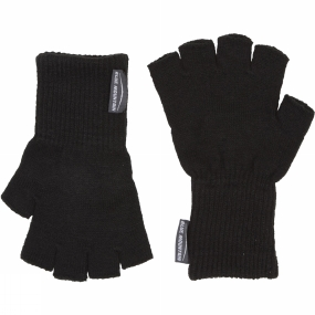 Blue Mountain Fingerless Glove Black