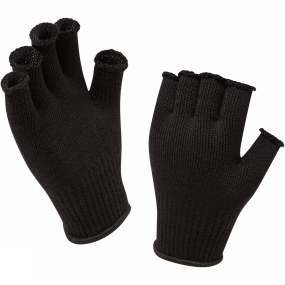 SealSkinz Fingerless Merino Glove Liner Black