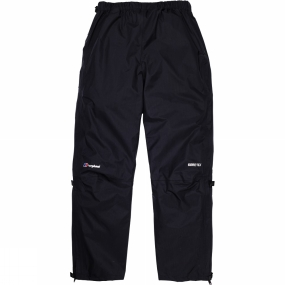 Berghaus Some of the the lightest and most breathable waterproof trousers money can buy, delivering complete leg protection at just 185g. Three-quarter length zips with two-way sliders allow these trousers to be put on easily while wearing big boots, as well as to be vented when it