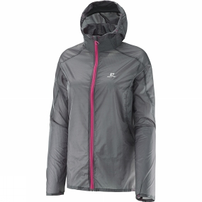Salomon Salomon Women's Fast Wing Hoodie Galet Grey