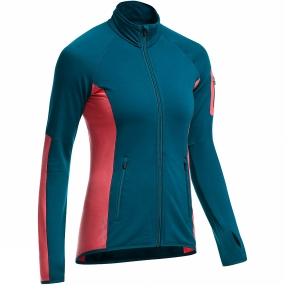 Icebreaker Icebreaker Womens Atom Long Sleeve Zip Night/Grapefruit