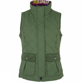 Joules Womens Milham Gilet Green