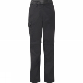 Craghoppers Craghoppers Womens Kiwi Zip Off Trousers Black