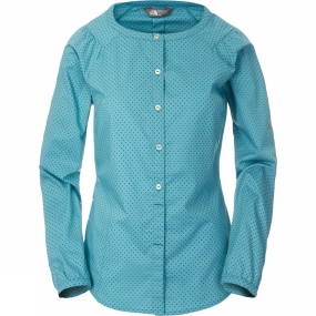 The North Face Womens Chic Lady Shirt Dusty Teal Dots