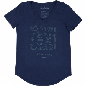 United By Blue Womens Outside Tee Navy