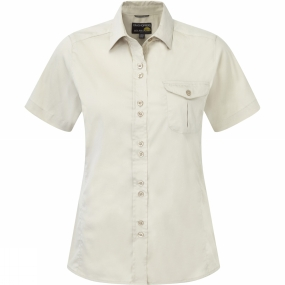 Craghoppers Craghoppers Womens Kiwi Short Sleeve Shirt Almond