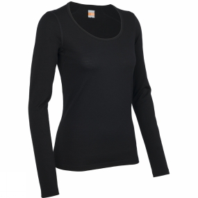 Icebreaker Icebreaker Womens Oasis Long Sleeve Scoop Black