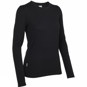 Icebreaker Icebreaker Womens Tech Long Sleeve Crewe Black