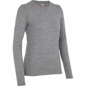 Icebreaker Icebreaker Womens Tech Long Sleeve Crewe Metro