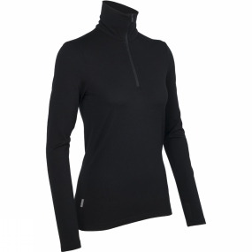 Icebreaker Icebreaker Womens Tech Top Long Sleeve Half Zip Black