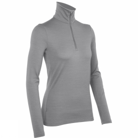 Icebreaker Icebreaker Womens Tech Top Long Sleeve Half Zip Metro Heather