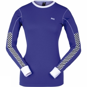 Helly Hansen Womens HH Active Flow Long Sleeve Glacial Purple
