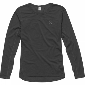 Haglofs Haglofs Womens Actives Merino II Round Neck True Black