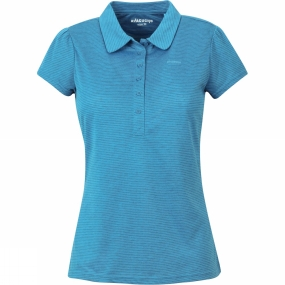 Ayacucho Womens Betty Polo Blue Saphire Striped