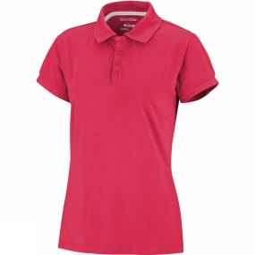 Columbia Women's Splendid Summer Polo Red Hibiscus