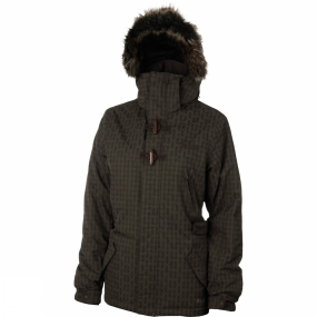 Protest Protest Womens Elipse Jacket Brown Earth